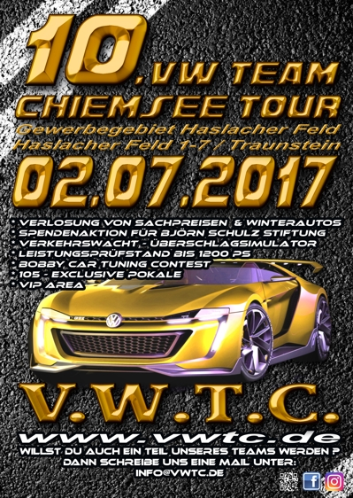 10 vw team chiemsee tour