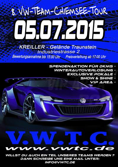 8 vw team chiemsee tour